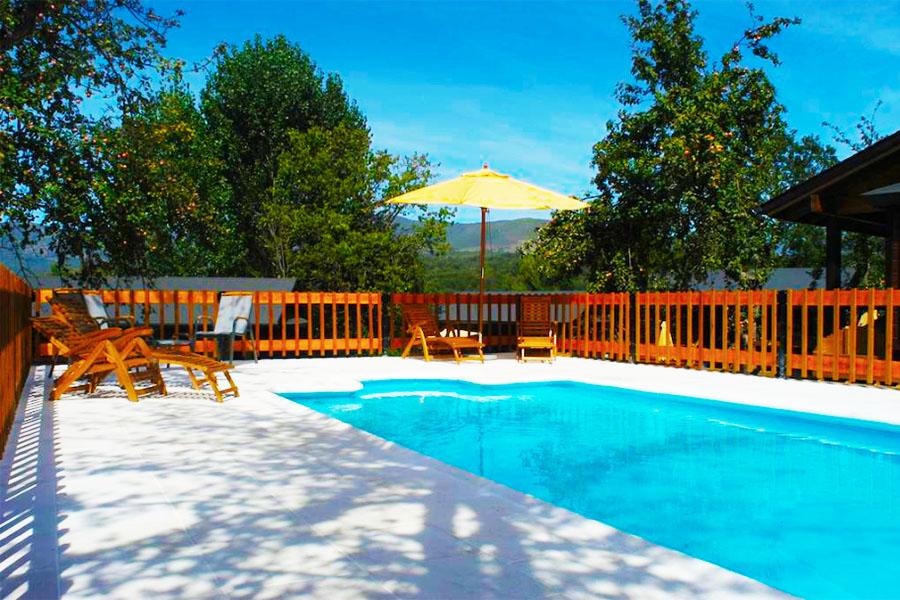 Casa Rural con piscina Zamora Cabañas El Ruso