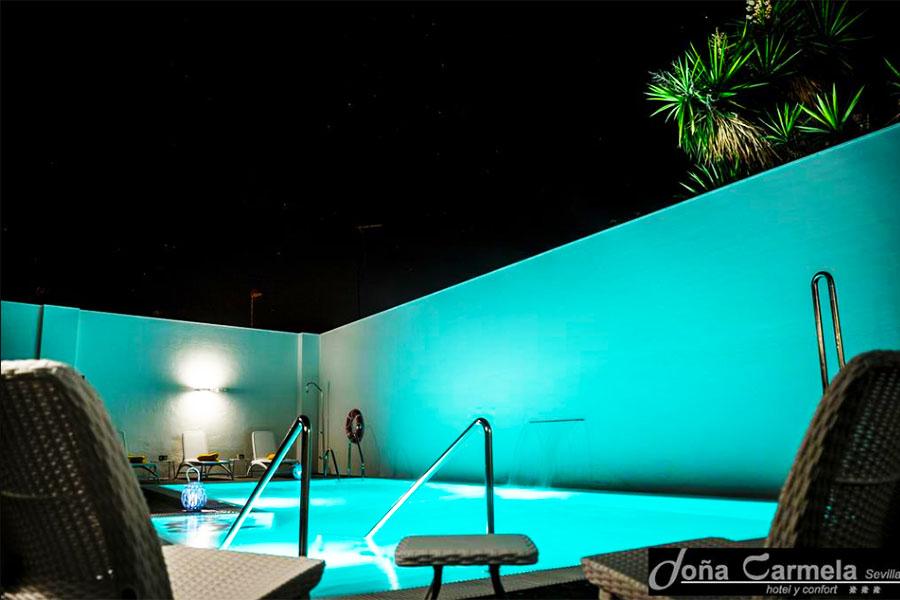 hotel con piscina sevilla Hotel Sercotel Doña Carmela