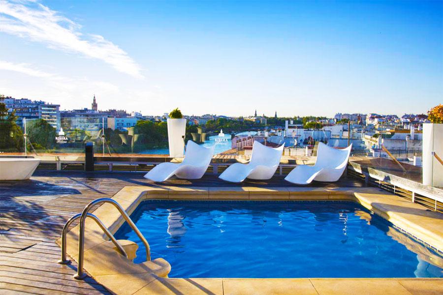 hotel con piscina sevilla Ribera de Triana Hotel