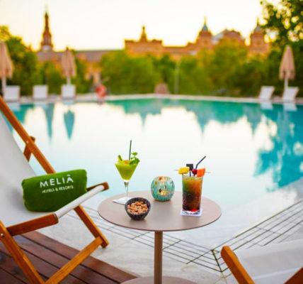 hotel con piscina sevilla melia