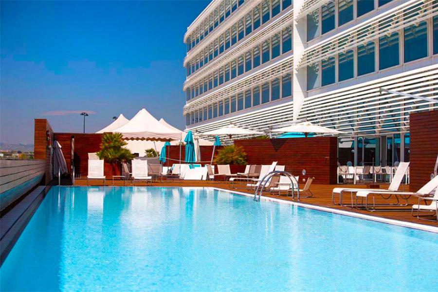 Hotel con piscina Zaragoza Hotel Hiberus