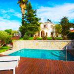 Hostal Montjuic Bed & Breakfast: Alojamiento en Girona Piscina Exterior