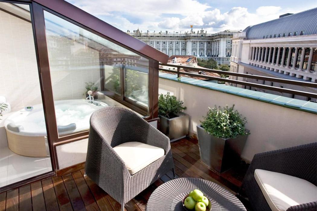 Hotel Opera madrid piscina jacuzzi privado habitacion