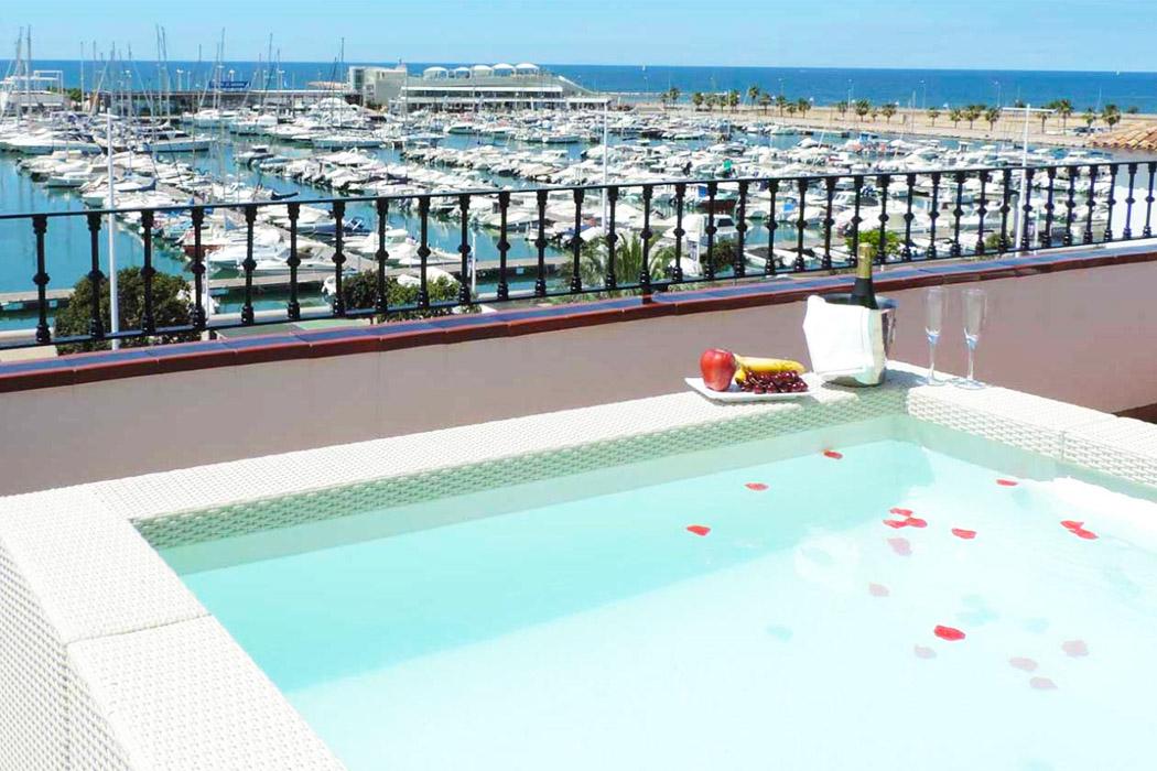 La Posada del Mar piscina privada habitacion
