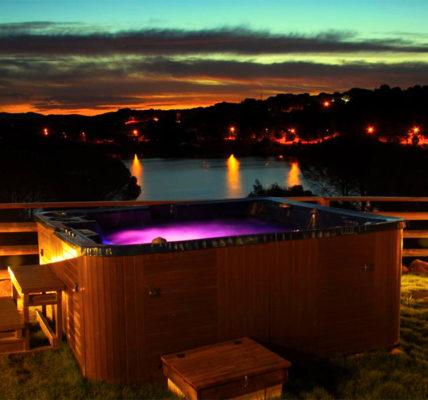Las Cabañas del Lago piscina privada habitacion