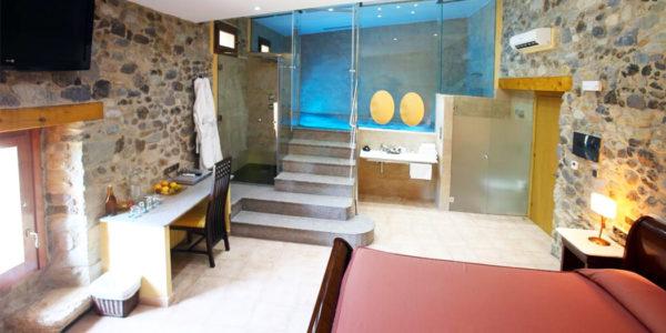 Mas la Casassa piscina privada en la habitacion