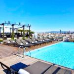 Grand Hotel Central: Hotel en Barcelona Piscina en la Azotea Vistas Catedral de Barcelona