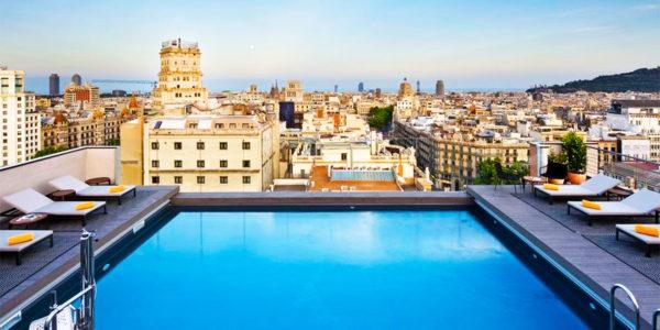 Piscina NH Collection Barcelona Gran Hotel Calderon
