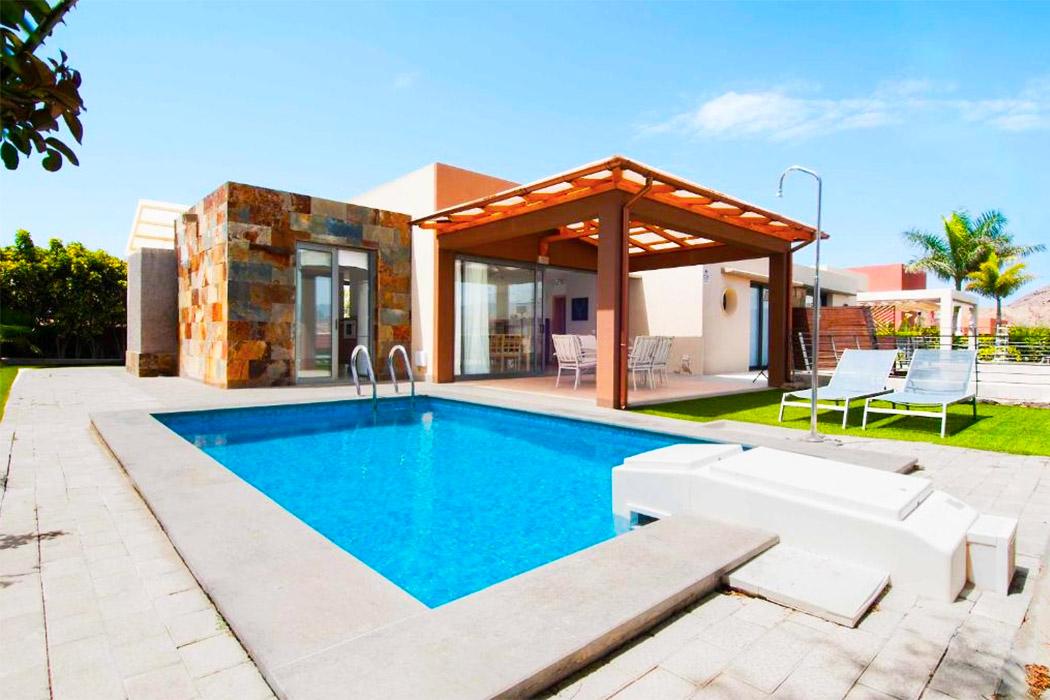 Salobre Villas piscina privada habitacion gran canaria
