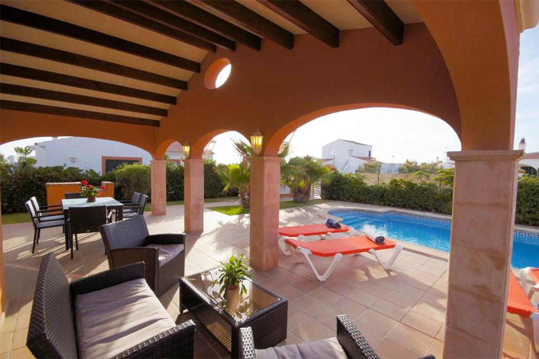Villas Begonias piscina privada habitacion menorca