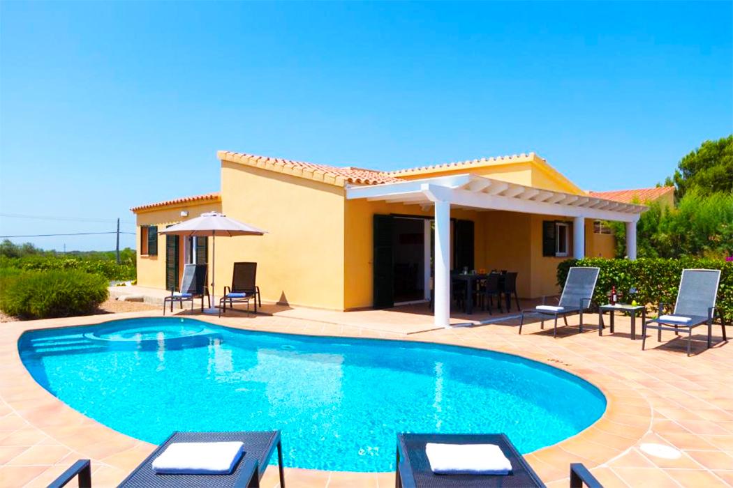 Villas Menorca Sur piscina privada habitacion menorca
